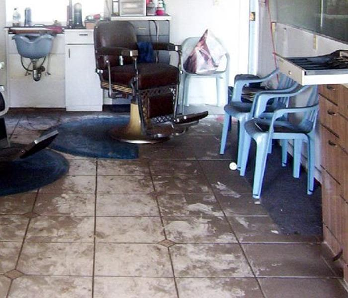 Commercial Fire Damage in Barber Shop Before